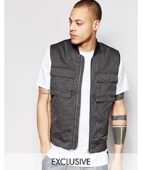 Black Eye Rags - Gilet style militaire - Gris