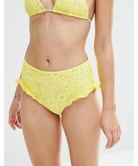 Lolli - Sunshine - Bas de bikini taille haute - Jaune