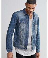 Religion - Veste en jean à délavage moyen - Gris