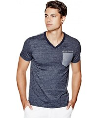 GUESS GUESS Winton V-Neck Tee - officer blue