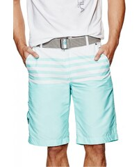 GUESS GUESS Carlyle Color-Blocked Striped Shorts - spring mint
