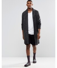 ASOS - Bermuda détente mi-long en jersey gaufré - Noir - Noir