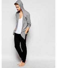 ASOS Loungewear - Pantalon de survêtement skinny à double ceinture - Noir - Noir