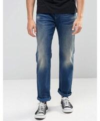 G-Star - 3301 - Weite Jeans in mittlerer Aged-Waschung - Blau