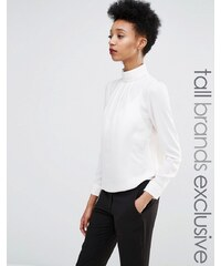 Y.A.S Tall - Blouse à col montant - Blanc