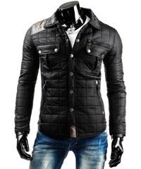 Trendy černá pánská lehce polstrovaná moderní bunda