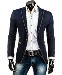Tmavě modré džínové sáčko se zlatým knoflíkem
