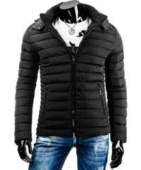 Černá pánská zimní bunda ve slim střihu