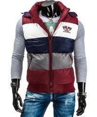 Exkluzivní zimní bordó vesta pro muže