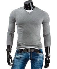 Pánský svetr šedý jednobarevný