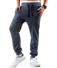 Pánské modré teplákové kalhoty s kšandami