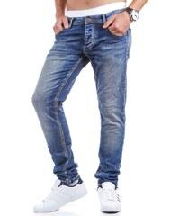 Modré pánské džíny pro frajery