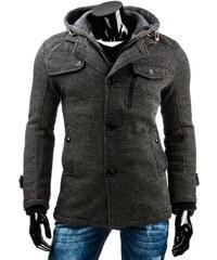 Podzimní pánský kabát s kapucí
