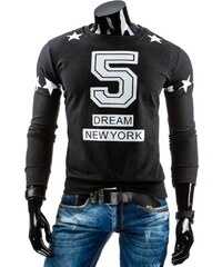 Ležérní tmavá mikina 5 DREAM NEW YORK