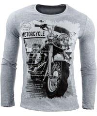 Motorkářské tričko s dlouhým rukávem šedé