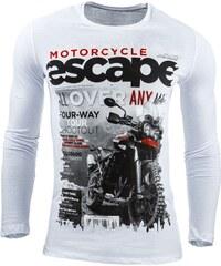 Frajerské freestylové tričko s dlouhým rukávem bílé