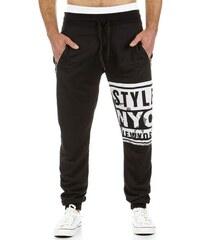 Černé sportovní baggy kalhoty STYLE NEW YORK