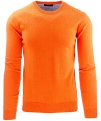 Moderní oranžový pánský svetr SALESMAN