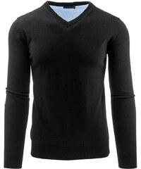 Moderní černý pánský svetr SALESMAN