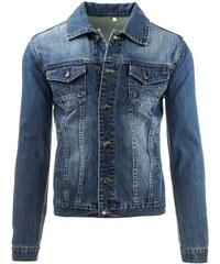 Pánská džínová bunda s dvěma kapsami