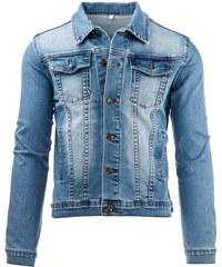 Světlá džínová pánská bunda se čtyřmi kapsami