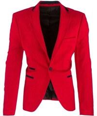 Zářivé červené pánské sako