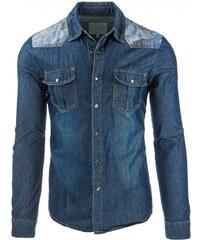 Pánská džínová košile s dlouhým rukávem