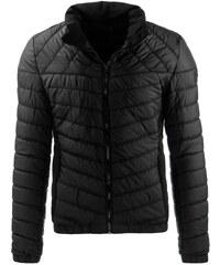 Černá pánská bunda prošívaná na zip