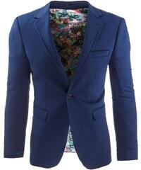 Modré elegantní pánské sako