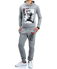 Sportovní boxerská souprava šedá