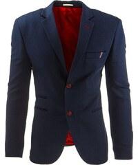 Elegantní modročervené sáčko na knoflíky