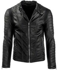 Luxusní černá pánská kožená bunda