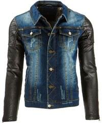 Frajerská pánská bunda džínová-kožená