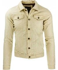 Vícevrstvá pánská bunda krémová