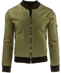 Ultra lehká pánská olivová bunda na zip