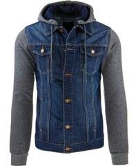 Pohodlná pánská džínová bunda s kapucí