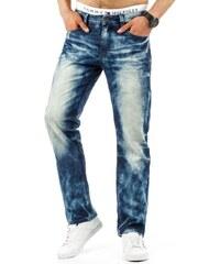 Vyšoupané pánské džínové kalhoty