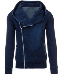 Jakostní modrá pánská bunda na zip