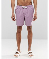 ASOS - Halblange, violette Badeshorts mit Kordelzug - Violett