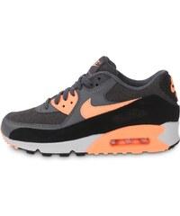 Nike Baskets/Running Air Max 90 Essential Grise Et Orange Femme