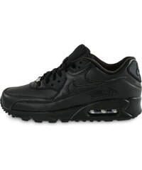 Nike Baskets/Running Air Max 90 Leather Noire Homme
