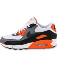 Nike Baskets/Running Air Max 90 Essential Blanc Orange Homme