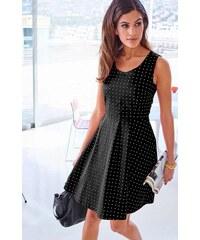 Vivance Collection Dámské šaty letní s puntíky černobílé