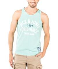 Jack & Jones Tee-shirt Debardeur Athletic Top Tank Vert Eau Homme