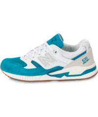 New Balance Baskets/Running M530 Aa Gumsole Blanche Et Turquoise Homme