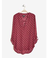 blouse en mousseline imprimé bordeaux Jennyfer