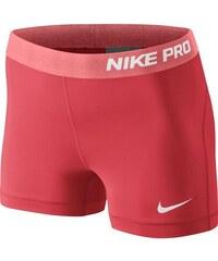 """NIKE2 Dámské šortky Nike Pro 3"""" L ČERVENÁ - BÍLÁ"""