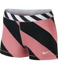 """NIKE2 Dámské šortky Nike Pro Diagonal Stripe 3"""" M RŮŽOVÁ - ČERNÁ"""