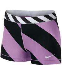 """NIKE2 Dámské šortky Nike Pro Diagonal Stripe 3"""" S FIALOVÁ - ČERNÁ"""