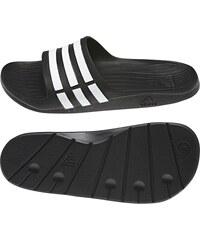 Pantofle Adidas Duramo Slide 40 2/3 ČERNÁ - BÍLÁ